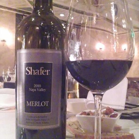 Shafer, Merlot, Napa Valley, 2010 - Il Palio, Shelton, CT