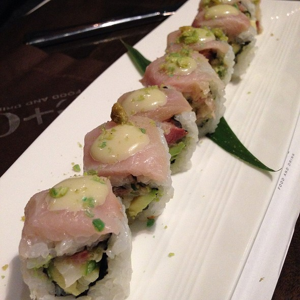 """Hamachi """"Me Some"""" Roll - E & O Food and Drink, Mount Prospect, IL"""