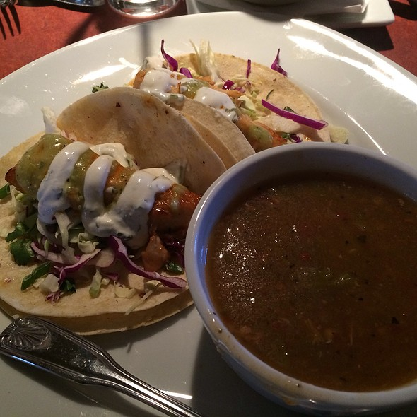 Fish Tacos And Pork Green Chile - Cafe Terra Cotta, Littleton, CO