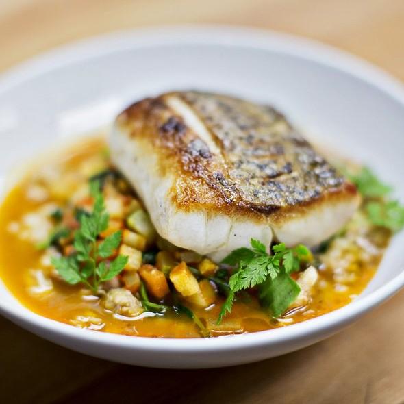 Crispy Skin Maryland Rockfish with Ratatouille - B&O American Brasserie - Hotel Monaco, Baltimore, MD
