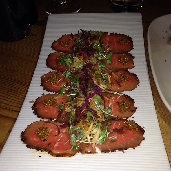 Beef Carpaccio - Tao Uptown, New York, NY