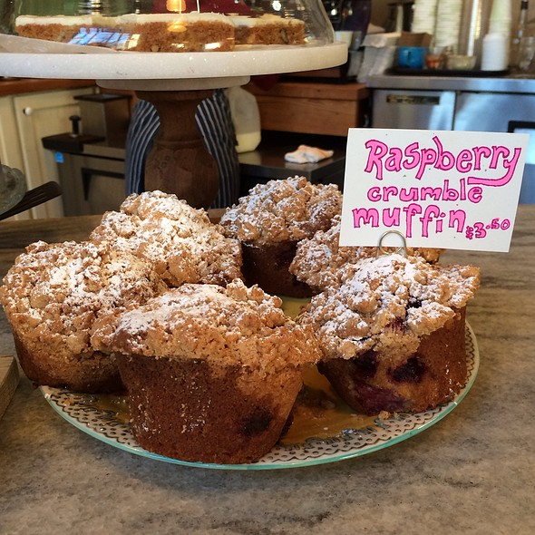 Raspberry Crumble Muffin - Talula's Garden, Philadelphia, PA