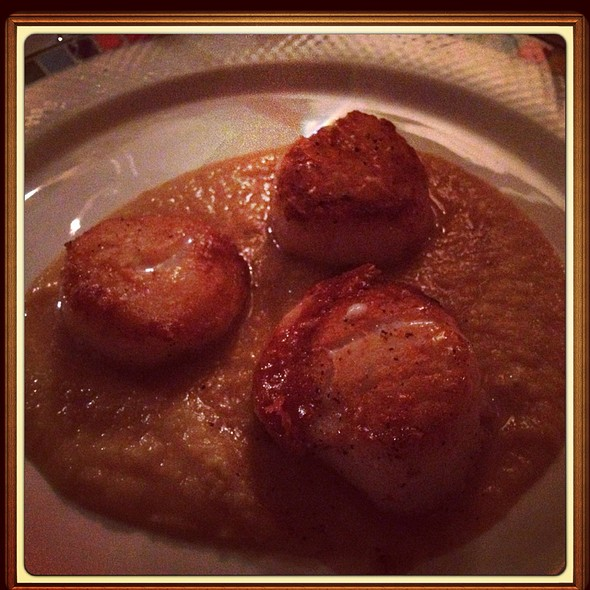 Seared Sea Scallops - Antica Posta, Atlanta, GA