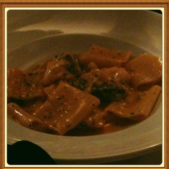 Paccheri Pasta With Sea Bass And Black Truffle - Antica Posta, Atlanta, GA