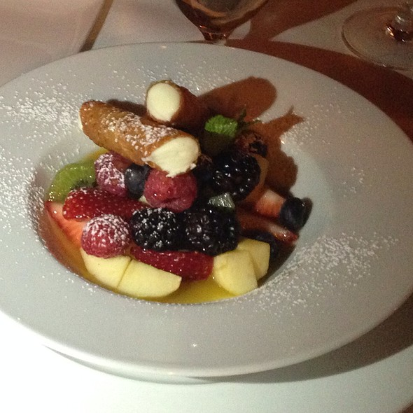 Fruit Plate With Cannoli - Davio's - Boston, Boston, MA