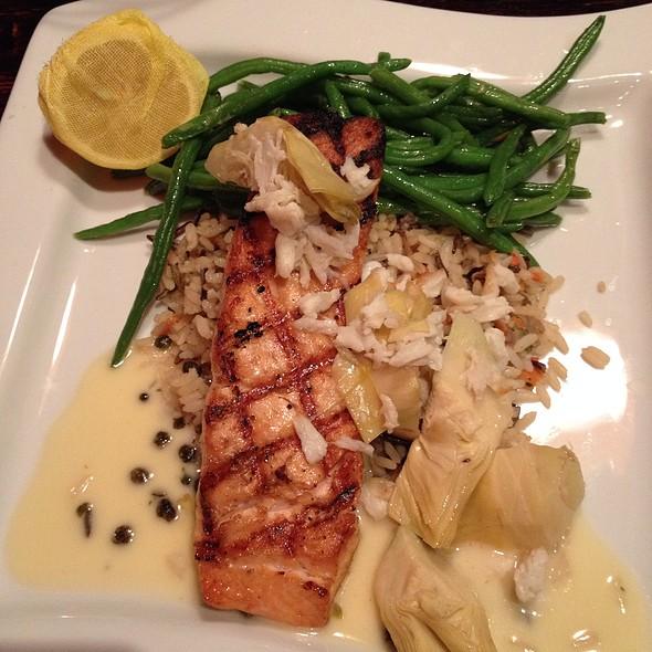 Salmon, Rice, Artichoke - SAGE Woodfire Tavern - Perimeter, Atlanta, GA