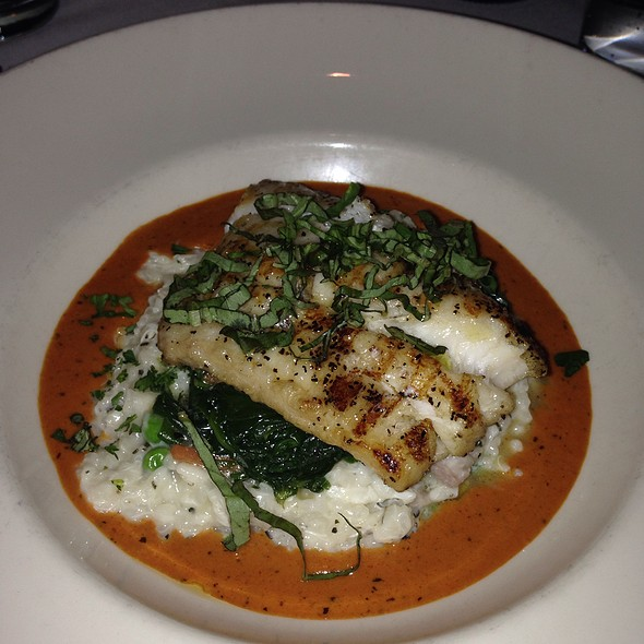 Grouper Cheeks With Risotto And Asparagus - Port Land Grille, Wilmington, NC