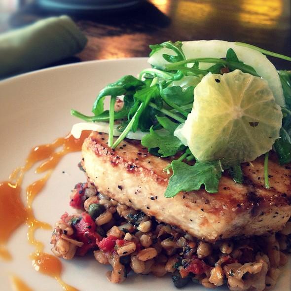 Hook & Line Caught Grilled Swordfish Special - Beach Cafe, Kirkland, WA