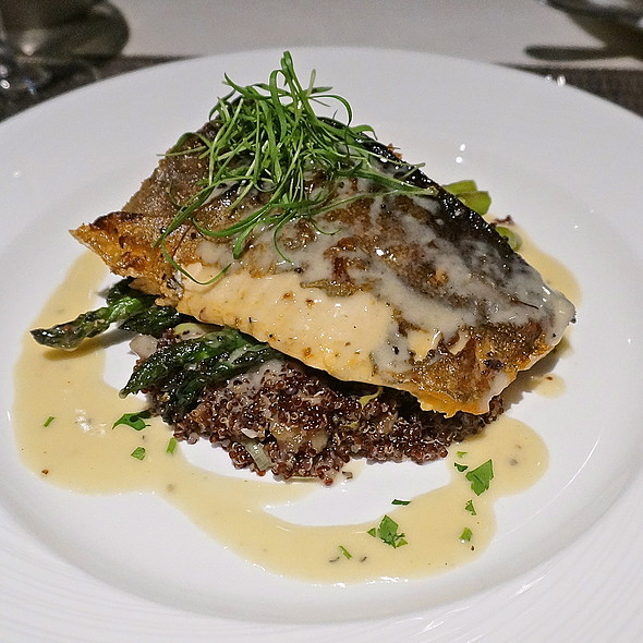 Arctic char, asparagus, red quinoa, chestnuts, leeks - Chandler's - Cape Rey Carlsbad, a Hilton Resort, Carlsbad, CA