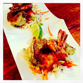 Wasabi Pea Encrusted Shrimp - Modis, Breckenridge, CO