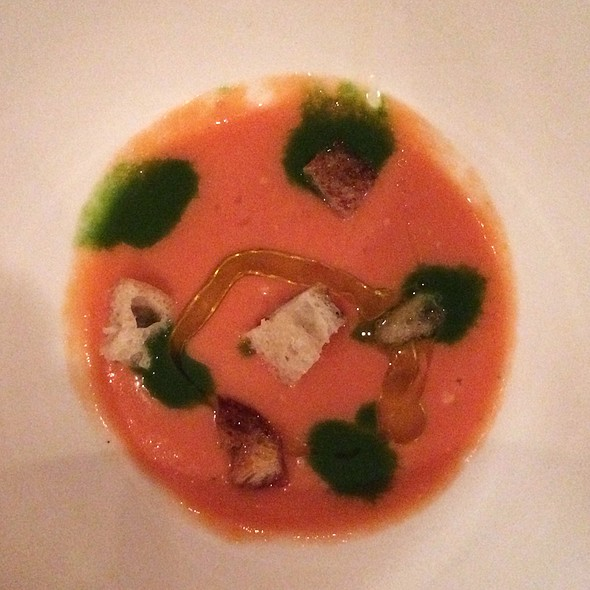 Cold Tomato Soup - iL Punto, New York, NY