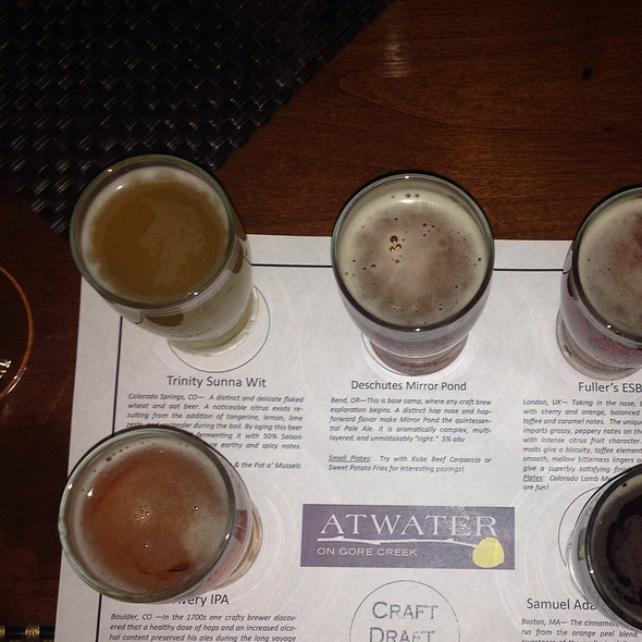 Beer tasting flight - Atwater on Gore Creek, Vail, CO