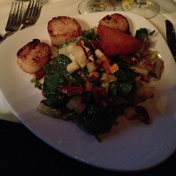 Chopped Salad With Seared Scallops - Belvedere Inn Restaurant and Bar, Lancaster, PA