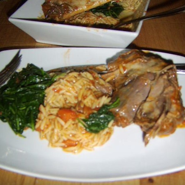 Braised Lamb With Orzo And Spinach - Opa, Philadelphia, PA
