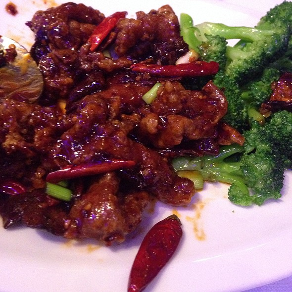 Orange Beef Extra Spicy - Tony Chan's Water Club, Miami, FL