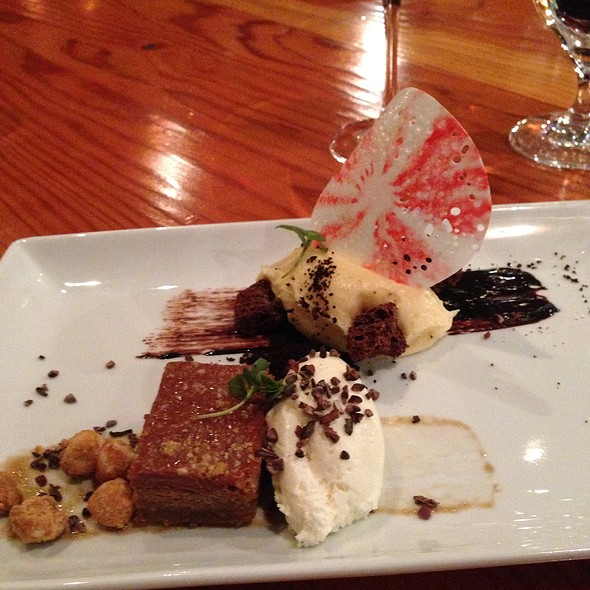 Hazelnut Chocolate Torte With  Peppermint Cheese Cake - Wine Spectator Greystone Restaurant at The Culinary Institute of America, St. Helena, CA