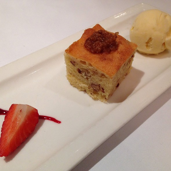 Date And Walnut Steamed Pudding, Fennel And Ginger Ice Cream - Tamarind of Mayfair, London
