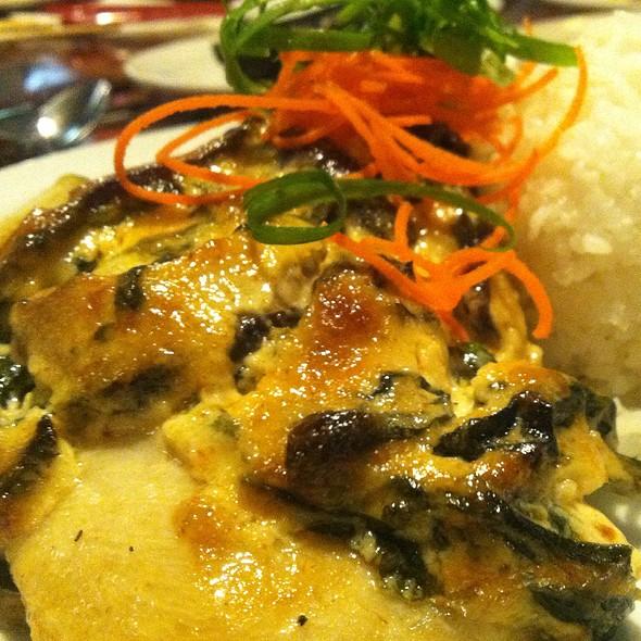 Shiitake Mushroom & Spinach Dynamite Crusted Opah - Pagoda Floating Restaurant, Honolulu, HI
