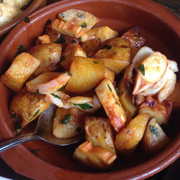 Octopus And Potatoes Tapas - La Raza, Cambridge, Cambridgeshire
