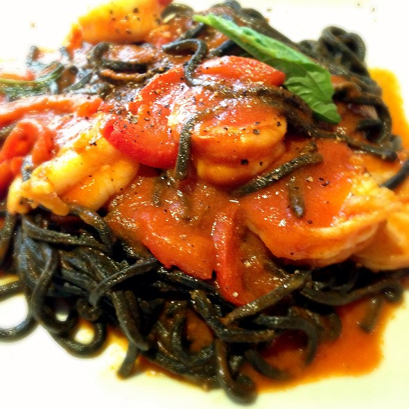 Squid Ink Linguine With Shrimp - Brio, New York, NY