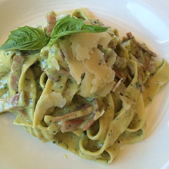 Homemade Fettuccine With Sicilian Pistachio Pesto Sauce With Creme And Speck - Bice - Naples, Naples, FL