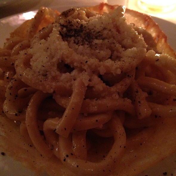 Cacio E Pepe In A Parmesan Cheese Basket - Il Corso (New York City), New York, NY