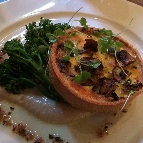 Truffle Creamed Leek & Chestnut Mushroom Tart - The Grazing Goat, London