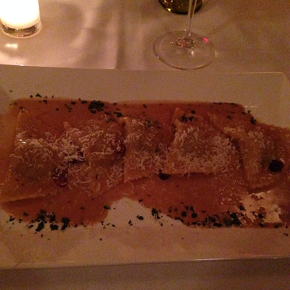 Homemade Ravioli- Braised Duck, Red Wine Jus, Parmigiano - Gabriele's Italian Steakhouse, Greenwich, CT