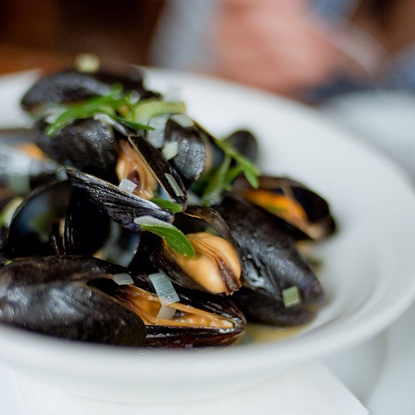 Mussels, Cider & Lovage - St. John Bread and Wine, London