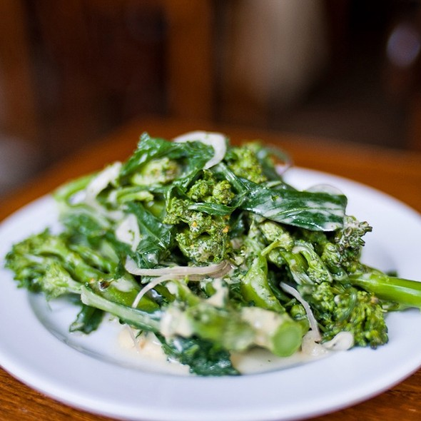Purple Sprouting Broccoli Vinaigrette - St. John Bread and Wine, London