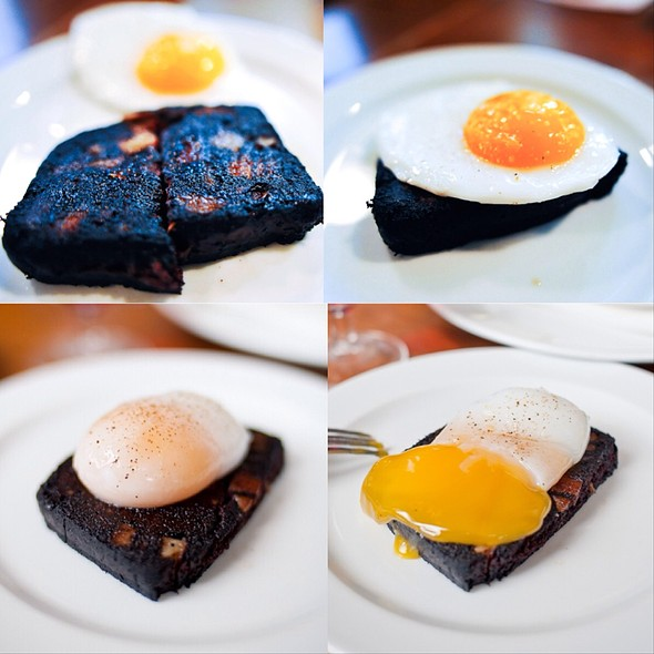 Blood Cake & Duck Egg - St. John Bread and Wine, London