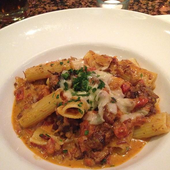 Rigatoni With Tuscan Wild Boar Bolognese - New Yorker Restaurant, Salt Lake City, UT