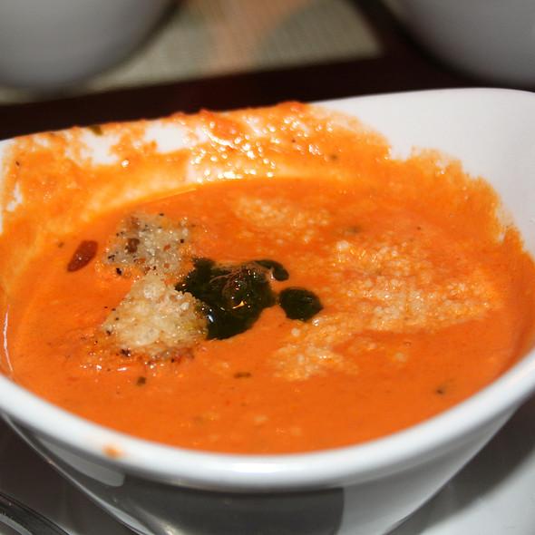 Creamy Tomato Basil Soup - Pizzeria Villagio, Palm Desert, CA
