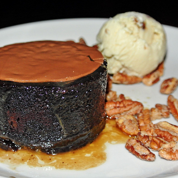 Warm Chocolate Toffee Cake - Burger and Barrel, New York, NY