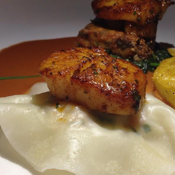 Shrimp Ravioli with Scallops - Bent, Toronto, ON