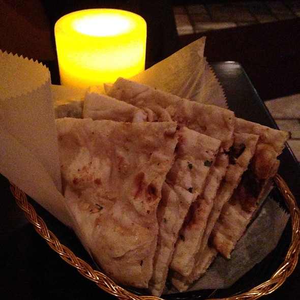 garlic naan - Benares - West Side, New York, NY