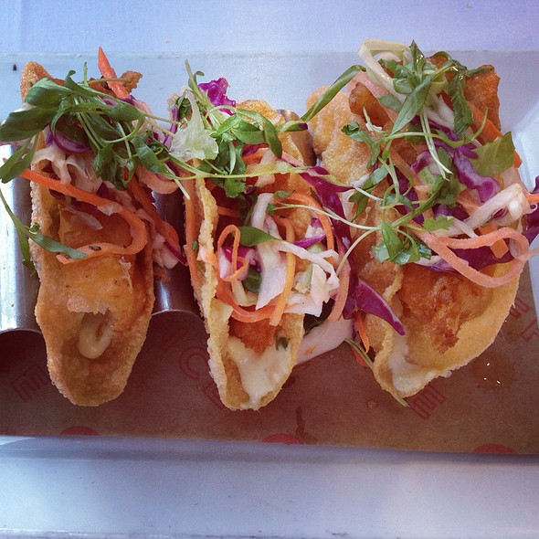 Crispy Sea Bass Taco  - The Office, Delray Beach, FL