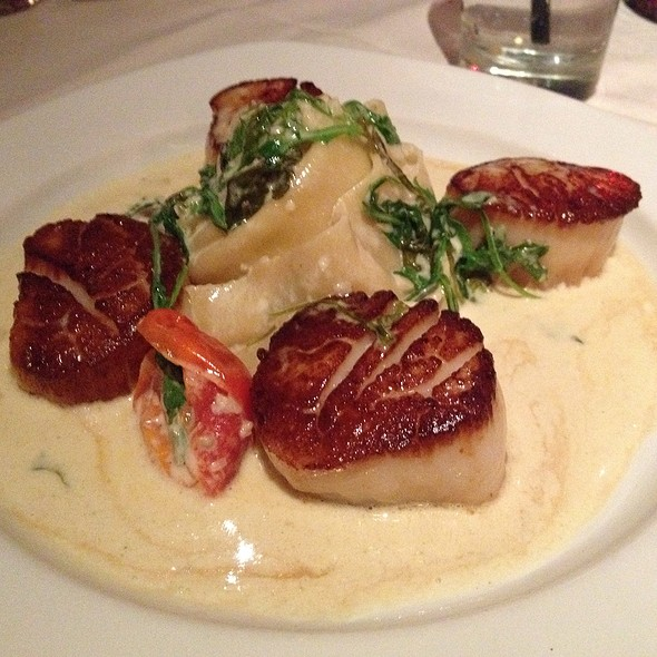 Scallops & Pappardelle In A Truffle Cream Sauce - Clydz, New Brunswick, NJ