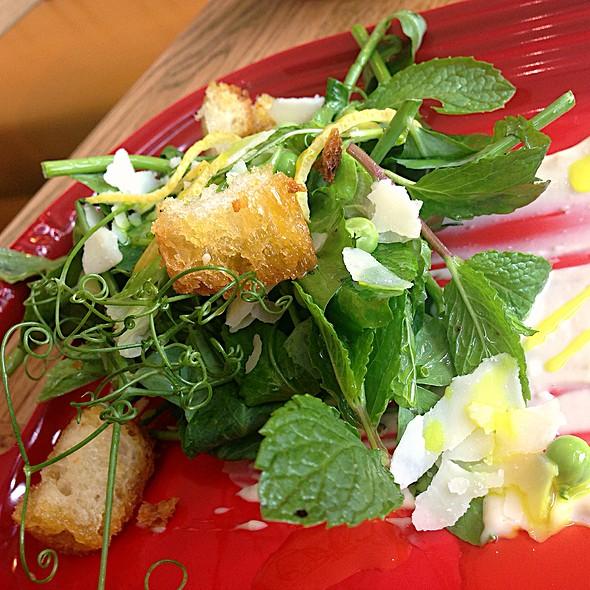 Raw Sweet Pea Salad - Jsix Restaurant, San Diego, CA