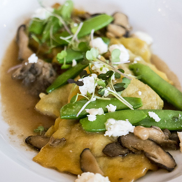 Humboldt Fog Agnolotti, Wild Mushroom, Truffle Essence, Snap Peas - Nob Hill Club at the Mark Hopkins, San Francisco, CA