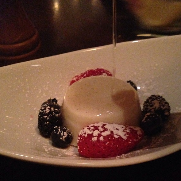 Panna Cotta - The Scott Grill at The Scott Resort & Spa, Scottsdale, AZ