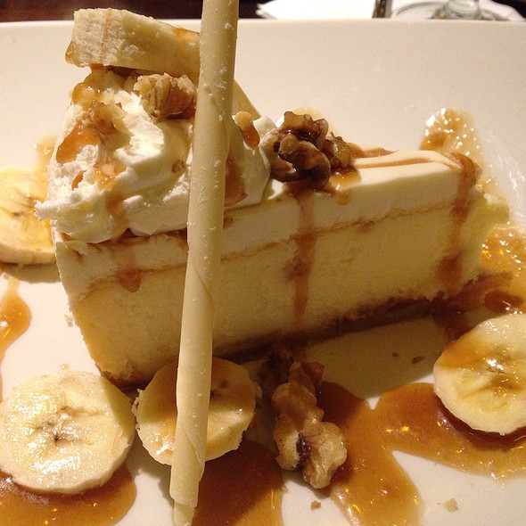 Bananas Foster Cheesecake - Fred and Steve's Steakhouse, Lincoln, RI
