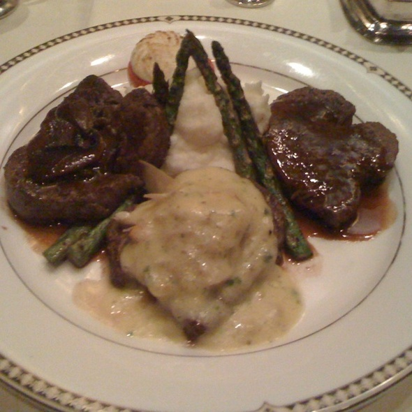 Trio Of Filet - Duane's Prime Steaks & Seafood Restaurant, Riverside, CA