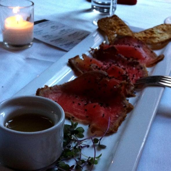 Pepper Seared Ahi Tuna - Umbria Prime, Boston, MA