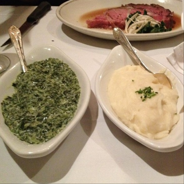 Creamed Spinach And Mashed Potatoes - The Prime Rib, Philadelphia, PA