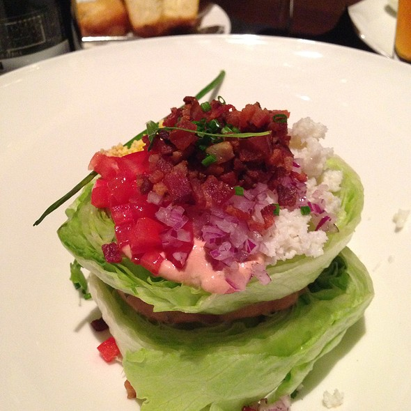 Wedge Salad - Bull & Bear Steakhouse, Orlando, FL