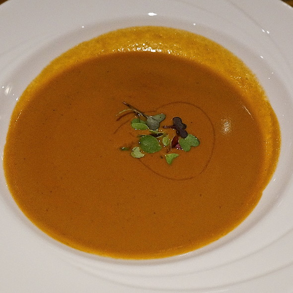 Lobster bisque, lobster stock, cream and butter - Different Pointe of View, Phoenix, AZ