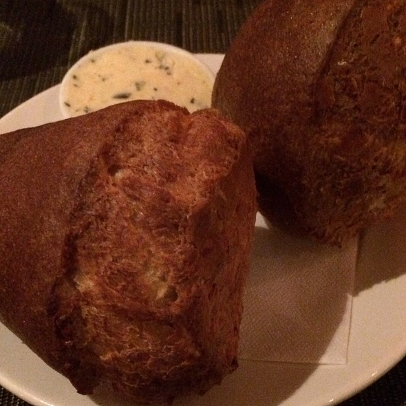 Popovers With Garlic Cheese Sauce - Jacobs & Co. Steakhouse, Toronto, ON