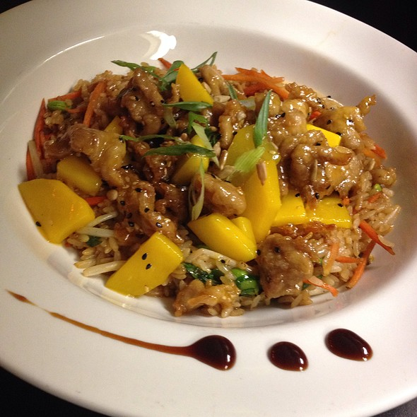 Mango Sweet And Sour Pork Over Vegetable Fried Rice - Cafe Fresco - Center City, Harrisburg, PA