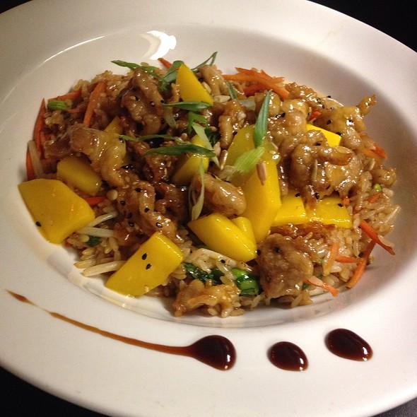 Mango Sweet And Sour Pork Over Vegetable Fried Rice - Cafe Fresco - Center City, Harrisburg, PA